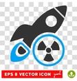 Atomic Rocket Science Eps Icon vector image