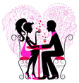 romantic dinner vector image