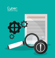cyber secuirty document file information vector image