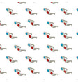 3d glasses to see movie in the cinema background vector image