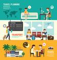 Business travel design concept people set planning vector image
