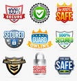 Guard labels vector image vector image