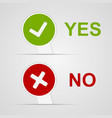 Yes and No icons paper stickers vector image