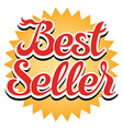 Best Seller Sticker vector image