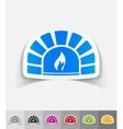 realistic design element oven vector image