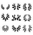Set of little laurel wreaths vector image