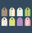 stylish price clothes tag with pattern sale card vector image