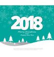 text 2018 christmas paper style on merry vector image