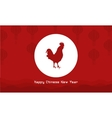 Background of rooster Chinese theme vector image