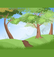 nature trees vector image vector image