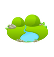 icon pond vector image
