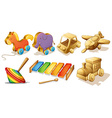 Wooden toys vector image vector image