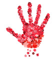 floral handprint vector image vector image