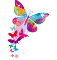 butterflies and line brushes vector image