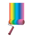 color roller vector image vector image