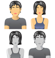 4 user icons for web vector image vector image