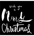 Merry Christmas calligraphy lettering vector image