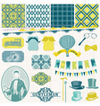 Vintage Gentlemens Accessories Set vector image