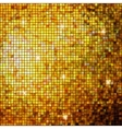 Gold mosaic background vector image