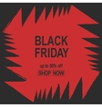 Grunge Black Friday Sale banner red color angles vector image