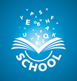 logo from the book flying letters vector image