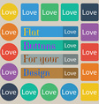 Love you sign icon Valentines day symbol Set of vector image