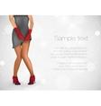 Sensuality long legs vector image