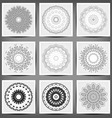 Set of ethnic ornamental floral pattern Hand drawn vector image