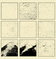 set of grunge different texture vector image