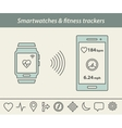 Smartwatch and fitness tracker vector image