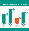 transportation structure infographics elements in vector image