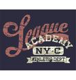 University athletic league vector image