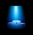 winner podium under blue light vector image