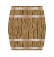 wooden wine barrel vector image vector image