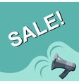 Megaphone with SALE announcement Flat style vector image