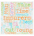 Life Insurance Plan For Life text background vector image