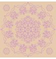 Circular pattern - irises vector image