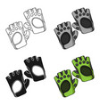 gym gloves icon in cartoon style isolated on white vector image