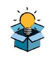 bulb light design vector image
