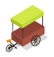 pedal-powered street cart store isometric vector image