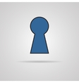 keyhole icon with shadow vector image