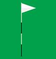 Golf flag vector image