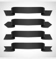 black decorative banners set vector image