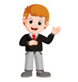 cute boy cartoon good posing vector image