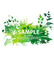 Grunge nature background vector image