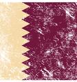 Qatar retro flag vector image