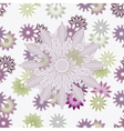 seamless backgrosnd with flowers vector image