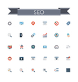 SEO Flat Icons vector image