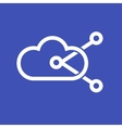 Shared Cloud vector image