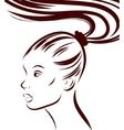 Woman portrait on a background EPS vector image